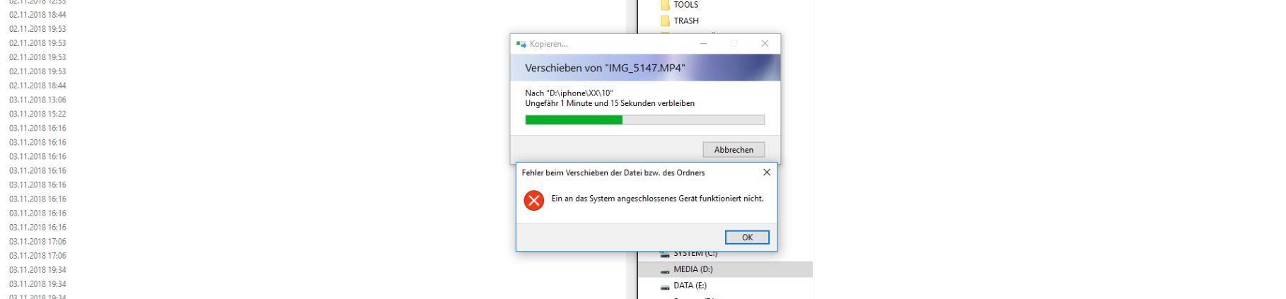 """Bilder Ohne Abstürze Vom IPhone Auf Den Windows PC übertragen – """"Das Angeschlossene Gerät Funktioniert Nicht Mehr""""-Fehler Beheben"""